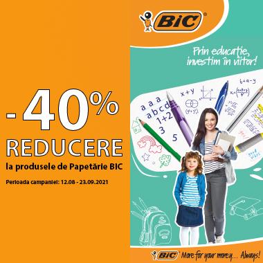 40% reducere BIC