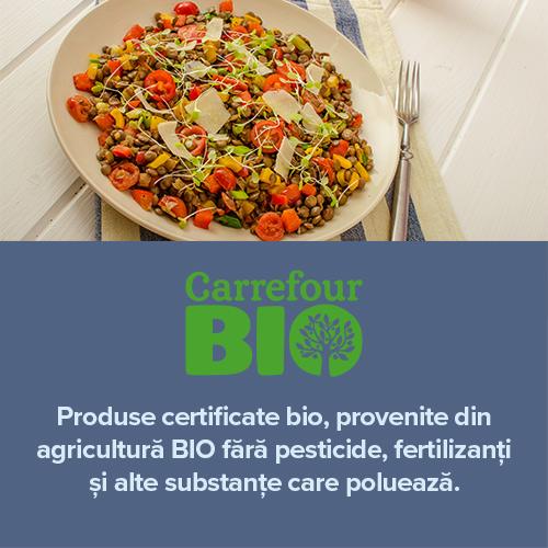 Produse certificate bio, provenite din agricultura BIO fara pesticide, fertizanti si alte substante care polueaza