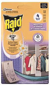 Hartie anti-molii Raid 4 buc