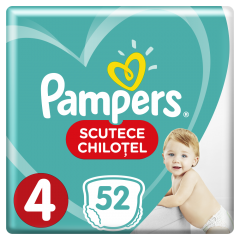 Scutece chilotei Pampers Pants 52 buc, 4 maxi, 9-14Kg