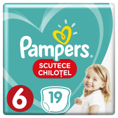 Scutece chilotei Pampers Pants, 19 bucati, 6 Extra Large, 16+ kg
