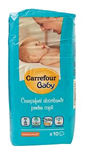 Cearceafuri absorbante pentru copii, 60x90cm Carrefour Baby 10buc