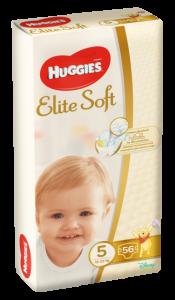 Scutece Huggies Elite Soft, nr 5, 12-22 kg, Mega, 56 buc