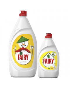 Pachet detergent de vase Fairy lamaie 1.3l si Fairy lamaie 450ml