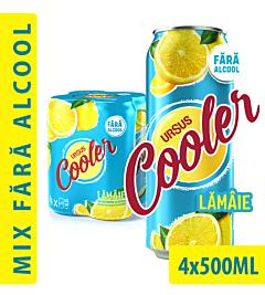 Bere fara alcool Ursus Cooler doza 4x0.5l