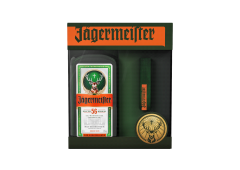Pachet Jagermeister 35% vol., 0,7 l cu baterie externa