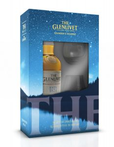Pachet Glenlivet Founder 40% vol., 0,7 l cu 2 pahare