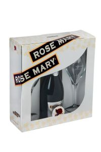 Pachet spumant Rose Mary 0,75 l cu 2 pahare