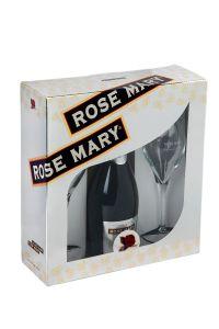 Pachet spumant Rose Mary 0,75 l cu 2 pahare