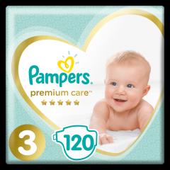 Scutece Pampers Premium Care, Marime 3, 6-10 kg, 120 buc