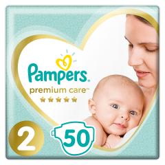 Scutece Pampers Premium Care, Marime 2, 3-6 kg, 50 buc