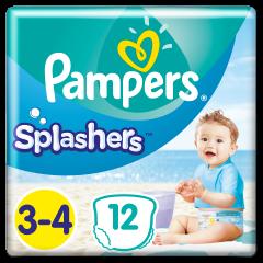Scutece Pampers Splashers, Marime 3-4, 6-11 kg, 12 buc