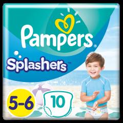 Scutece Pampers Splashers, Marime 5-6, 14+ kg, 10 buc