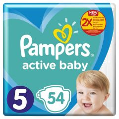 Scutece Pampers Active Baby Maxi Pack, Marime 5, 11-16 kg, 54 buc