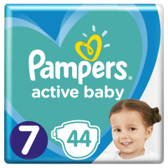 Scutece Pampers Active Baby Maxi Pack, Marime 7, 15+ kg, 44 buc