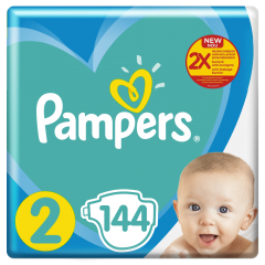 Scutece Pampers New Baby Mega Pack, Marime 2, 4-8 kg, 144 buc