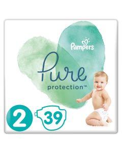Scutece Pampers Pure, Marime 2, 4-8 kg, 39 buc