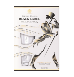 Pachet Whisky Johnnie Walker Black Label 40% vol. 0,7 l cu 2 pahare