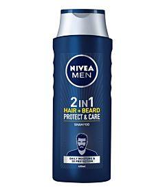 Sampon pentru par si barba Protect & Care Men 400ml Nivea