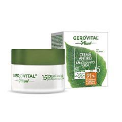 Crema antirid Poliplant Microbiom Protect Gerovital Plant, cu SPF 15, 50 ml