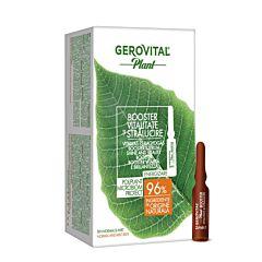 Booster vitalitate si stralucire Poliplant Microbiom Protect Gerovital Plant 10 fiole x 2 ml
