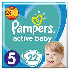 Scutece Pampers Active Baby Marimea 5, 11-16 kg, 22 buc