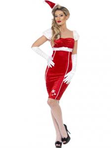 Costum craciunita adult rochie Pin Up   S