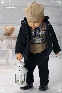 Costum botez baieti toamna iarna Elan   80 cm (10-16 luni)