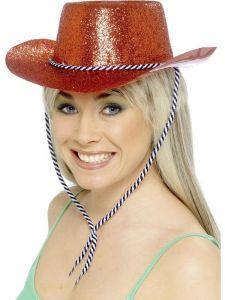 Palarie cowboy rosie petrecere