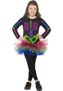 Costum schelete neon fete   115 cm (4-5 ani)