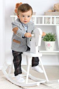 Costum botez baieti elegant Club Junior   86 cm (16-22 luni)