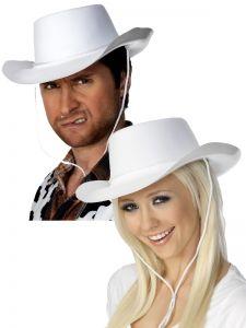 Palarie cowboy alba petrecere