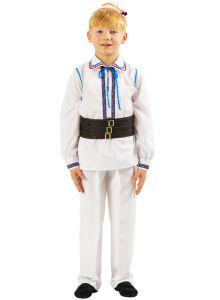 Costum popular baieti Muntenia   140 cm (8-10 ani)  cu haina