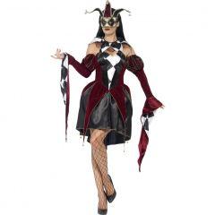 Costum arlechin venetian gotic dama   S