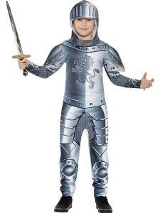 Costum cavaler medieval copii cu armura    130 cm (6-7 ani)