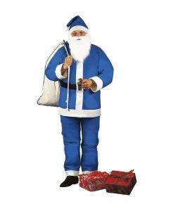 Costum Mos Craciun albastru