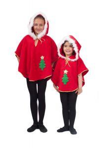 Costum poncho craciunita copii   120 cm (5-6 ani)