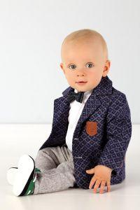 Costum ocazie botez baieti stofa Ecco Boy Granat   80 cm (10-16 luni)