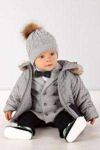 Jacheta toamna iarna baieti bebelusi Club Junior Gri   62 cm (2-4 luni)