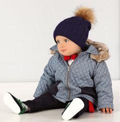 Jacheta toamna iarna baieti bebelusi Club Junior Granat   62 cm (2-4 luni)