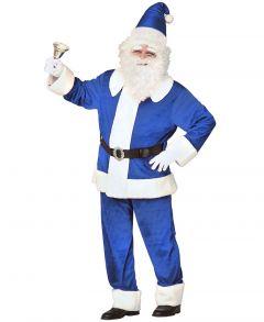 Costum Mos Craciun albastru royal