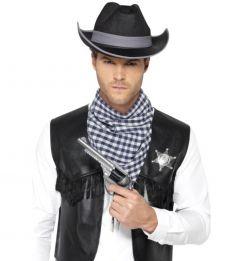 Set western serif vesta bandana si palarie   XL