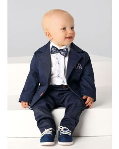 Costum ceremonie baieti micul gentleman   74 cm (6-10 luni)
