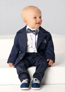 Costum ceremonie baieti micul gentleman   86 cm (16-22 luni)