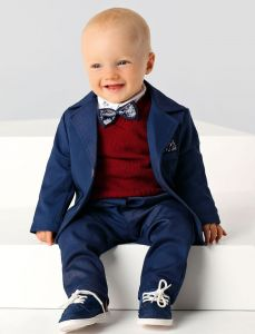 Costum ceremonie baieti micul gentleman cu vesta   68 cm (4-6 luni)