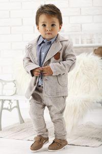 Costum ocazie botez baieti stofa Ecco Boy Mocasin   62 cm (2-4 luni)