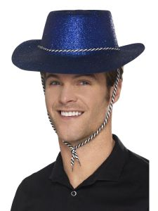 Palarie cowboy albastra petrecere