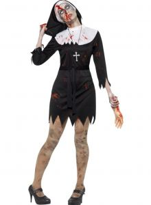 Costum calugarita zombie   S