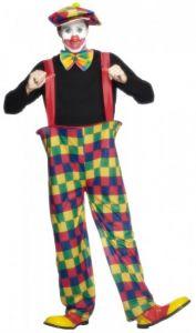 Costum clown adult cu bretele   L