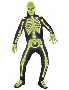 Costum schelete fosforescent adult   M